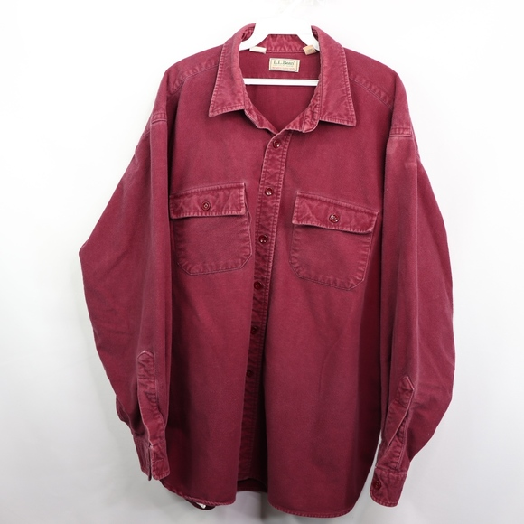 2c0f38ee4 L.L. Bean Tops | Vintage Ll Bean Thick Flannel Chamois Cloth Shirt ...